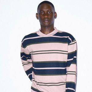 American Apparel City Stripe sweat shirt Unisex